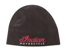 INDIAN MOTORCYCLE BLACK ICON FLEECE BEANIE EMBROIDERED SCRIPT LOGO HEADDRESSS OS