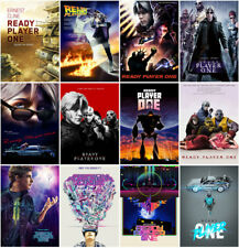 12 Ready Player One Movie 2018 Mirror Surface Postcard Promo Card Poster Card C3