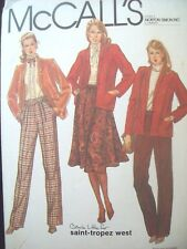 McCalls Pattern 7765 Jacket, Skirt and Pants Carole Little Tropez West Size 12