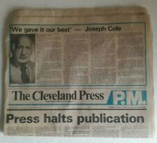 The Final Edition 1982 Cleveland Press June 17
