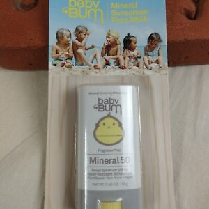 Baby BUM Mineral Sunscreen Face Stick Plant Based Water Resistant SPF50 0.45 OZ
