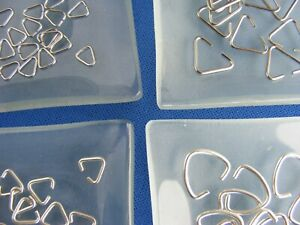 Triangle Jump Ring Bails Connectors Links 10 or 20 Jewellery Making Findings UK