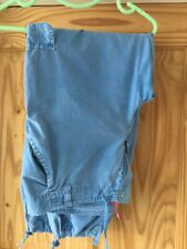 Voodoo Dolls comfy trousers. Pale blue. Very good condition. Size 16.