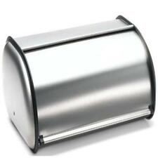 Brushed Stainless Steel Rolltop Kitchen Bread Box Bin Storage large size