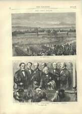 1871 The Paris Review March Past Thier Lefrane Simon Favre Old Print