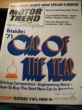 Vintage FEBRUARY 1971 MOTOR TREND Magazine 92pp Vintage ADS, Articles