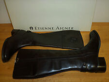 Etienne Aigner New Womens Costa Chocolate Leather Boots 5.5 M Shoes Leather