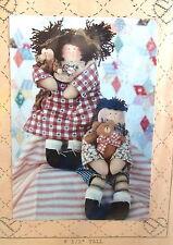 "Dianna Marcum doll pattern Nellie & Ned 8"" rag dolls Homespun at Heart 9"""