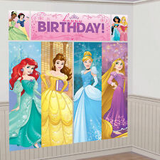 Disney Princesses Wall Decoration Kit Scene Setter Happy Birthday Party Favor