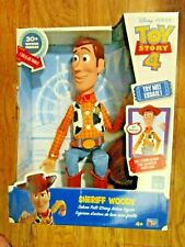 Toy Story 4 Sheriff Woody Pull String Talking Rag Doll 16 Inch 30+ Sayings NEW!