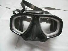 PALANTIC BLACK DIVING MASK - NEARSIGHTED LENSES -4.5 - LIGHTLY USED SEE PICS