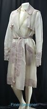 BCBG MaxAzria Runway Sheer 100% Silk knee jacket dress trench coat M NEW $1,295