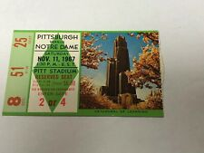 1967 Notre Dame Vs Pittsburgh Football Ticket Stub 11/11/1967 Mint Condition