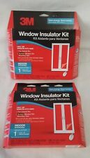 "Lot Of 2 3M Window Insulator Kit Indoor Insulates 1 6'8""X9' Patio Door Each Box"