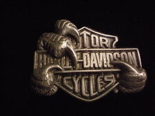 HARLEY DAVIDSON EAGLE CLAW WITH HARLEY SHIELD **** FANTASTIC****   PIN