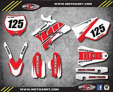 Yamaha YZ 125 2006 2007 Full Custom Graphi Kit -RETRO STYLE stickers / decals