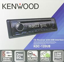 KENWOOD KDC-120UB Autoradio CD MP3 WAV USB AUX - NEU - OVP - blaue Beleuchtung