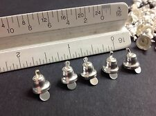 40 pieces Silver Metal Craft Christmas Bells Supplies 8mm 25