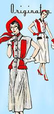 1940s Very Rare Originator Designer Pattern 1230 Uncut Misses Sun Dress Size 30B