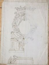 Dal Pozzo - Albani collection  - Old Master Drawing Study for a Cartouche