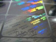 Hologramm-aufkleber Siegel Nummer 17x30mm GARANTIESIEGEL Sicherheitsetikett
