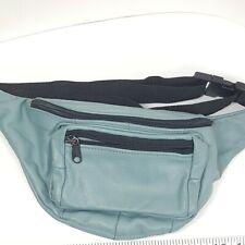 Vintage Light Blue Teal Fanny Pack Back Pocket