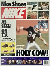 NIKE ORIGINAL NICE SHOES 1990 POSTER W/ 12 PHOTOS JORDAN, MCENROE, BO JACKSON ++