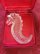 MIB FLAWLESS Exceptional Art Crystal WATERFORD Ireland SEAHORSE Hand Cooler