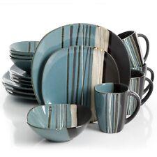 32 Piece Dinnerware Set Kitchen Dinner Home Stoneware Serving Dishes Plates Kit