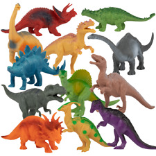 "Realistic Dinosaur Toys - 7"" Educational Models for Boys & Girls - 12 pack"