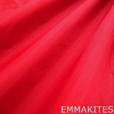 "1 Yard x 59"" W Red Ultra Light Waterproof Ripstop Nylon Fabric PU Coated Outdoo"