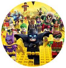 Batman Lego Edible Birthday Cake Icing Sheet Topper Decoration Round Images