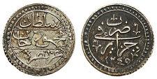 ALGERIE Mahmoud II.(1223-1255 H.) 1/4 boudjou 1245 H. (1830)