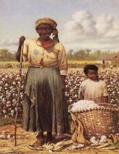 METAL MAGNET African American Black Woman Boy Slaves Cotton Field MAGNET