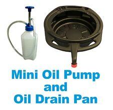 1 Litre Mini Pump Gear Oil Filler Brake Fluid + 15 Litre Black HD Oil Drain Pan