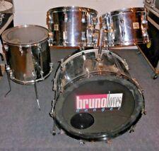 Vintage 1972 FIBES Chrome Plated Fiberglass 4-Piece Drumset * READ DESCRIPTION *