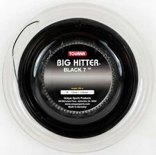 Tourna Big Hitter Black 7 - 1.25mm 16G (black) 726ft 220m Reel Tennis String