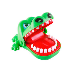 Funny Kids Toys Crocodile Dinosaur Biting Finger Teeth Game Interactive Toy UK