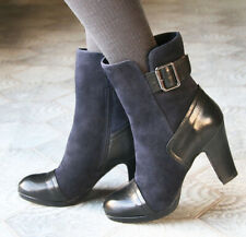 CHIE MIHARA SHOES COSTA BOOTS NAVY BLACK 39 $545 PLATFORM BUCKLE BOOTIES