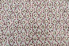 """COLEFAX AND FOWLER CURTAIN FABRIC DESIGN """"Swift"""" 3.2 METRES RED 100% LINEN"""