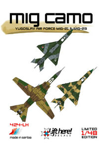 LIFT HERE decals 424-LH  1/48  Yugoslav Mig-21 and Mig-23