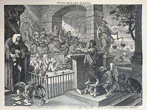 William Hogarth - Paul Before Felix - Burlesqued - Satire - Parody - Religion