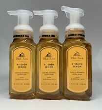 Bath & Body Works White Barn Kitchen Lemon Gentle Foaming Hand Soap 3 PACK