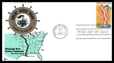 First Day Cover Scott's # 1319 5¢ Great River Road 1966 Baton Rouge