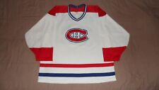 Vtg Montreal Canadiens White #22 Brunet CCM Men's Size Large NHL Hockey Jersey