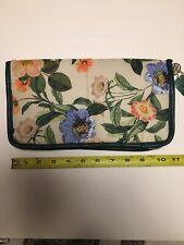 New Sonia Kashuk Brush Easel Organizer Valet Cosmetic Bag Botanical Floral White