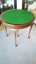 More details for old antique playing cards table wooden folding  table, solid wood