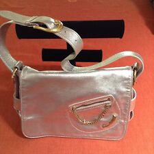 Juicy Couture LARGE Pink Metallic Leather Soft Satchel Tote Purse Handbag