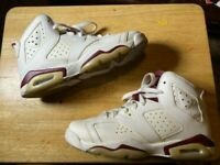 Used Nike Air Jordan Retro 6 Maroon Size 6.5 2015 No Box - Vintage