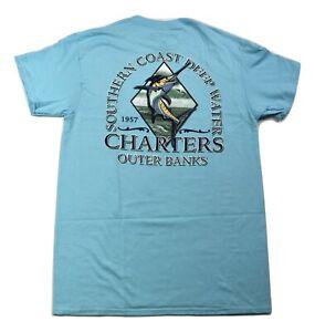 Well Worn Mens Southern Coast Deep Water Charters Outer Banks Shirt M, XL, 2XL